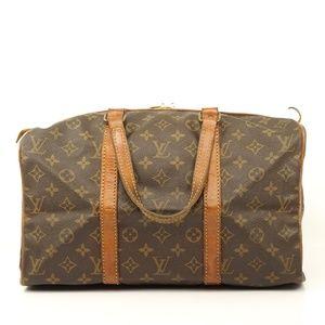 Auth Louis Vuitton Sac Souple 35 Satchel #355L3130